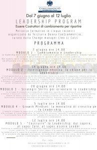 All. 1 - Leadership Program 2021 PROGRAMMA